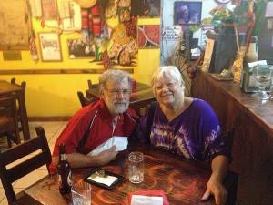 Jan and Frank in San Jose at Jalapenos