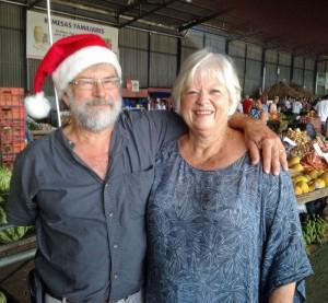 Jan and Frank as Santa